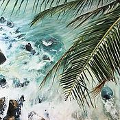 Картины и панно handmade. Livemaster - original item Oil painting Paradise 50h50 cm. Handmade.