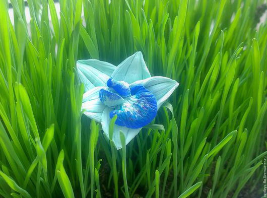 """Кольца ручной работы. Ярмарка Мастеров - ручная работа. Купить кольцо """"Мятная мечта"""". Handmade. Мятный, мятная орхидея, синий"""