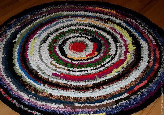 """Текстиль, ковры ручной работы. Ярмарка Мастеров - ручная работа. Купить Ковер вязаный (1,5 м) """"""""Буйство красок"""". Handmade."""