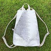 Сумки и аксессуары handmade. Livemaster - original item FUSION Monitor Lizard Leather Backpack. Handmade.