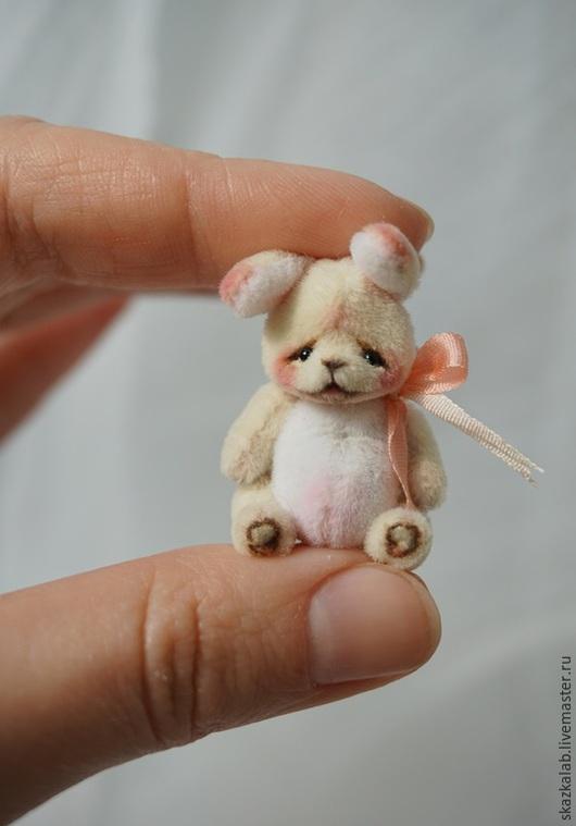 Мишки Тедди ручной работы. Ярмарка Мастеров - ручная работа. Купить Floret (3 см). Handmade. Зайка, коллекционный