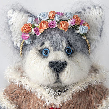 Куклы и игрушки ручной работы. Ярмарка Мастеров - ручная работа Щенок Хаски (котенок). Handmade.