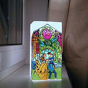 """Для дома и интерьера ручной работы. Ярмарка Мастеров - ручная работа Ночник """"Красавица и чудовище"""". Handmade."""