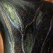 Одежда ручной работы. Ярмарка Мастеров - ручная работа Валяное платье Изумрудная россыпь. Handmade.