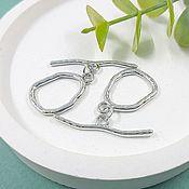 Материалы для творчества handmade. Livemaster - original item TOGGL lock ring 15,5h23 mm rhodium plated (5537-R). Handmade.