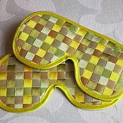 Одежда ручной работы. Ярмарка Мастеров - ручная работа Маска для сна Лимонный крем купить в подарок. Handmade.