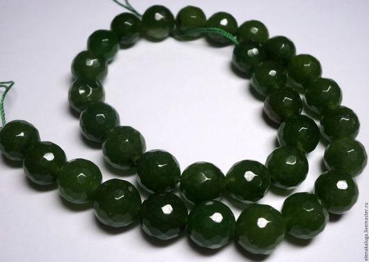 Для украшений ручной работы. Ярмарка Мастеров - ручная работа. Купить Агат темно-зеленый 12 мм. Handmade. Агат