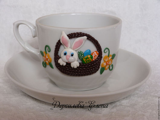 Подарки на Пасху ручной работы. Ярмарка Мастеров - ручная работа. Купить Пасхальный кролик. Handmade. Комбинированный, белый, Пасха, коричневый