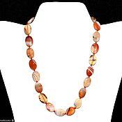 Украшения handmade. Livemaster - original item Beads made of natural carnelian stone. Handmade.