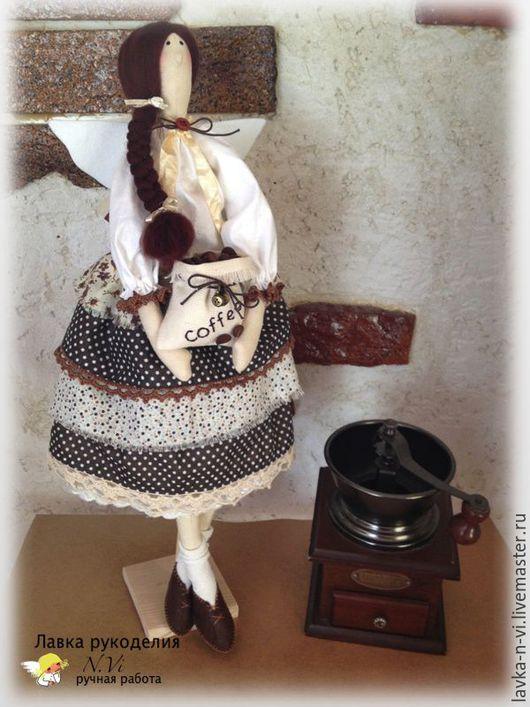 Куклы Тильды ручной работы. Ярмарка Мастеров - ручная работа. Купить Кофейный ангел. Handmade. Коричневый, домашний декор, фетр