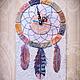 Часы для дома ручной работы. Ярмарка Мастеров - ручная работа. Купить Часы настенные Ловец снов. Handmade. Голубой, часы