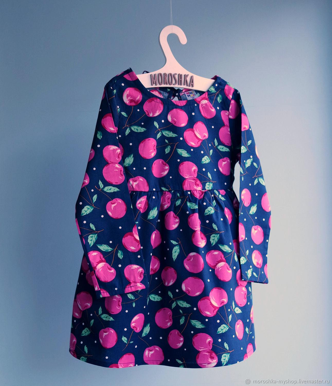 Платье для девочки Черешня, лиловое