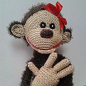 Мягкие игрушки ручной работы. Ярмарка Мастеров - ручная работа Вязаная весёлая обезьянка. Игрушка ручной работы. Handmade.