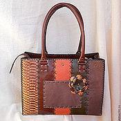 Классическая сумка ручной работы. Ярмарка Мастеров - ручная работа Сумка Мозаика 3 натуральная кожа. Handmade.