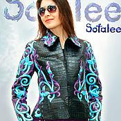 Одежда handmade. Livemaster - original item Jacket made of genuine crocodile leather, Python, women`s jacket.. Handmade.