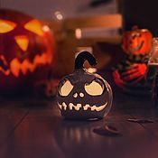 Для дома и интерьера handmade. Livemaster - original item Pumpkin JACK handmade ceramic candle holder. Handmade.