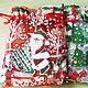 """Упаковка ручной работы. Ярмарка Мастеров - ручная работа. Купить Мешочек органза """" Дед Мороз"""", 3 шт/уп. Handmade."""