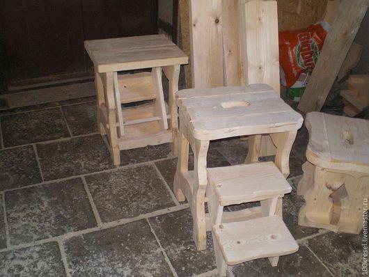 Мебель ручной работы. Ярмарка Мастеров - ручная работа. Купить Деревянный табурет-ступенька (массив сосны). Handmade. Табуретка-ступенька