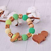 Куклы и игрушки handmade. Livemaster - original item Rodent-rattle round with a wooden figure (nominal). Handmade.