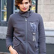 Одежда handmade. Livemaster - original item Women`s sweatshirt with fur lining is My Favorite. Handmade.