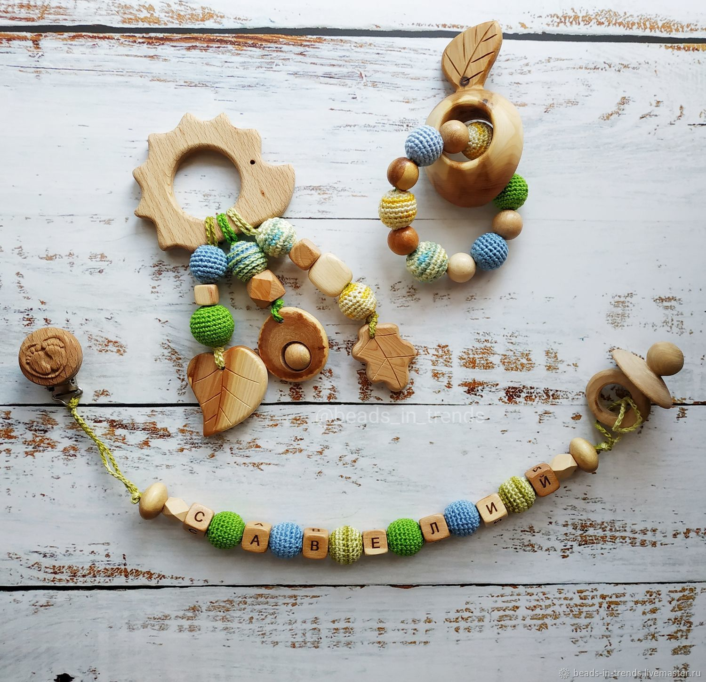 Educational Toys handmade. Livemaster - handmade. Buy Nominal set of juniper (holder, rodent, rattle).Holder