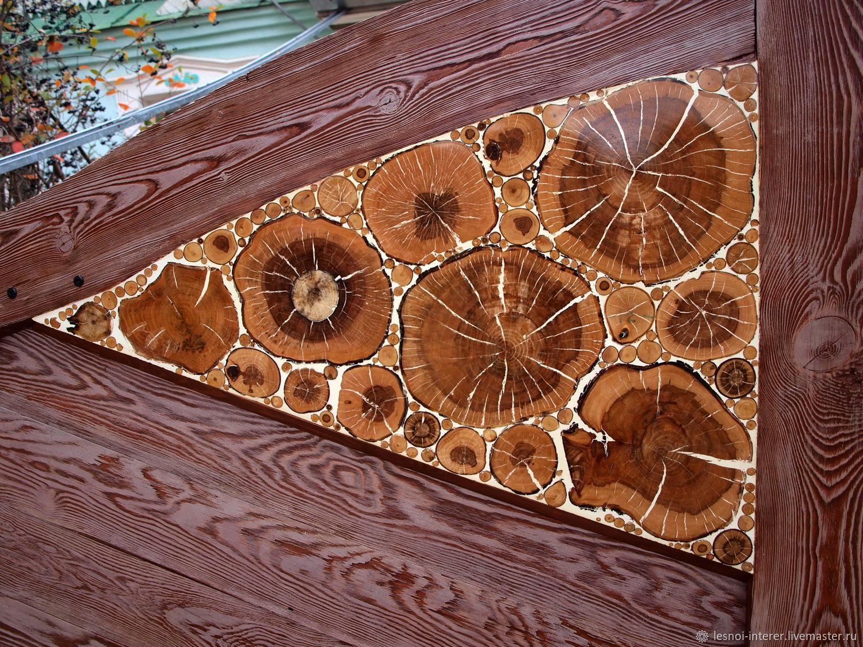 Панно из спилов дерева. Шлифованное, Скульптуры, Казань, Фото №1