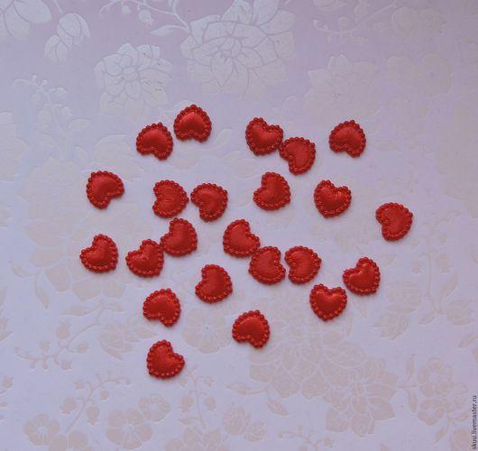 Открытки и скрапбукинг ручной работы. Ярмарка Мастеров - ручная работа. Купить Сердечко красное 10 мм. Handmade. Ярко-красный