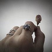 Украшения handmade. Livemaster - original item Ring with a square Labradorite open adjustable ring. Handmade.