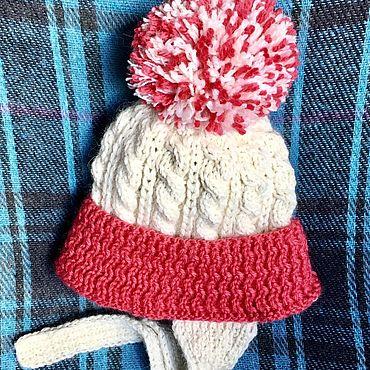 Clothing handmade. Livemaster - original item Children`s hat and scarf for spring (white Alpaca cowberry cashmere). Handmade.