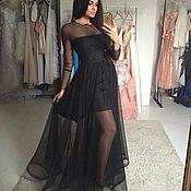 Одежда ручной работы. Ярмарка Мастеров - ручная работа Платье сетка черное прозрачное. Handmade.