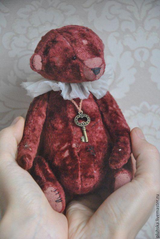 Мишки Тедди ручной работы. Ярмарка Мастеров - ручная работа. Купить мишка Тедди маленький Принц. Handmade. Бордовый, мальчик