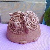 Для дома и интерьера ручной работы. Ярмарка Мастеров - ручная работа фигурка сова, керамическая, статуэтка из керамики глины. Handmade.