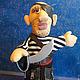 """Кукольный театр ручной работы. кукла-перчатка """"Пират"""". Эльвира. Интернет-магазин Ярмарка Мастеров. Пират, театр, трикотаж, синтепон"""