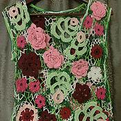 Одежда ручной работы. Ярмарка Мастеров - ручная работа Топ-маечка ажурная. Handmade.
