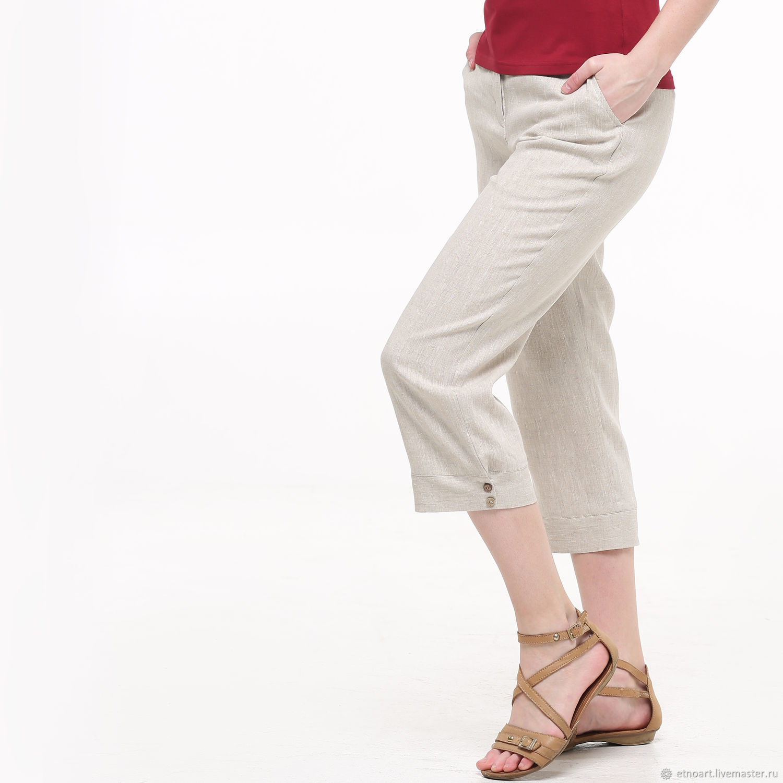 100% linen Capri pants, Pants, Tomsk,  Фото №1