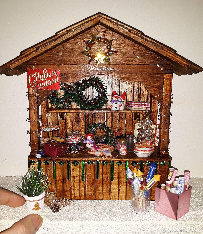 Christmas Dollhouse Miniatures.Christmas Counter Display Cases For Dollhouse Miniatures Zakazat Na Yarmarke Masterov Enkvncom Miniatyurnye Igrushki Moscow
