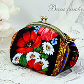 Сумки и аксессуары handmade. Livemaster - original item Cosmetic bag with clasp, cosmetic bag