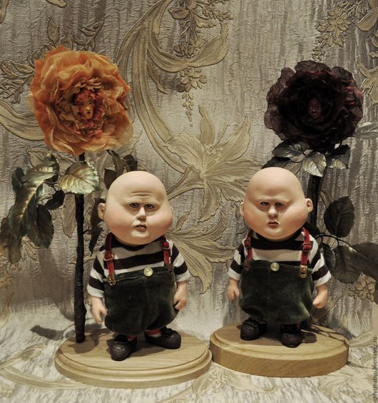 Коллекционные куклы ручной работы. Ярмарка Мастеров - ручная работа. Купить Труляля  и Траляля из Алисы в стране чудес. Handmade. персонаж