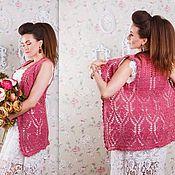 Одежда handmade. Livemaster - original item Handmade author`s vest crocheted. Handmade.