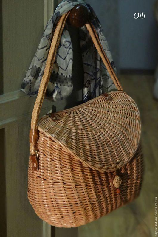Корзины, коробы ручной работы. Ярмарка Мастеров - ручная работа. Купить сумка плетеная женская. Handmade. Сумка ручной работы