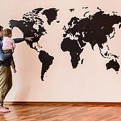 Sculpture manualidades. Livemaster - hecho a mano World map GIANT 280h170 cm. Handmade.