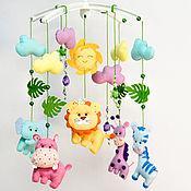 Работы для детей, handmade. Livemaster - original item Mobile felt on the cot