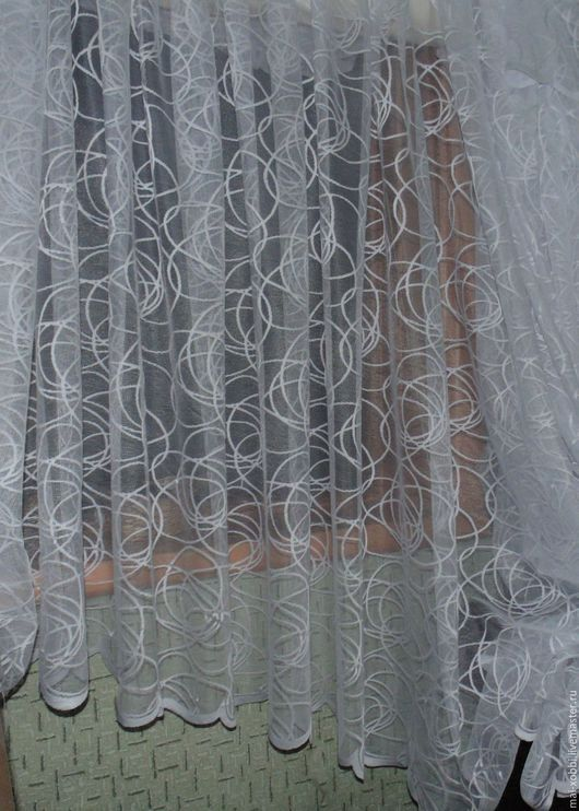 Текстиль, ковры ручной работы. Ярмарка Мастеров - ручная работа. Купить тюль пошив на заказ. Handmade. Белый, тюль