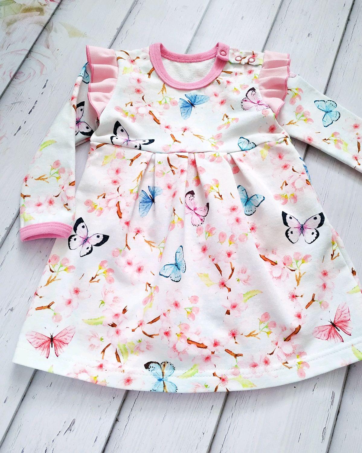 """Боди - платье """"Весенние бабочки"""""""