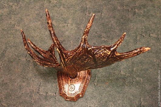Прихожая ручной работы. Ярмарка Мастеров - ручная работа. Купить Лосиный рог. Handmade. Коричневый, старинный стиль, для дома и интерьера