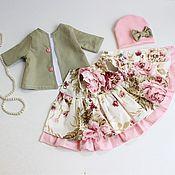 Одежда для кукол ручной работы. Ярмарка Мастеров - ручная работа Оливковый комплект одежды для кукол паола Рейна. Handmade.