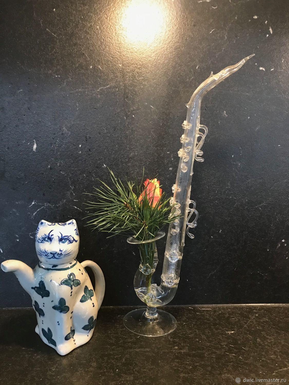 """Винтаж: Заварочный чайник """"Кот в листьях"""", керамика ручной работы, Голландия, Винтажная кухонная утварь, Арнем,  Фото №1"""