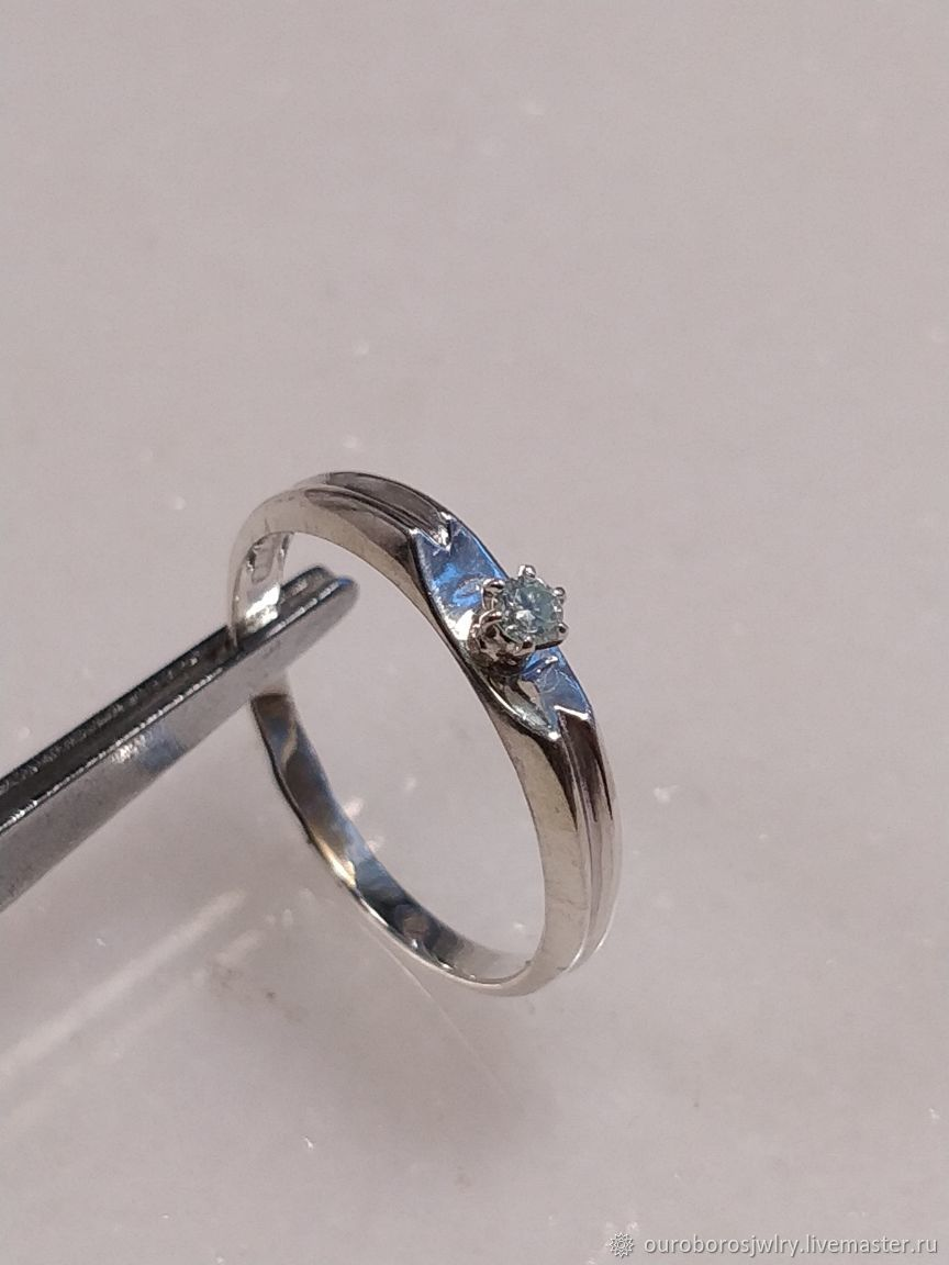 Silver ring with moissanite, Rings, Novosibirsk,  Фото №1