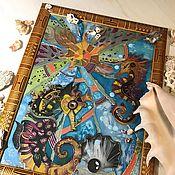 Картины и панно handmade. Livemaster - original item Panels: Magic Seahorses. Handmade.