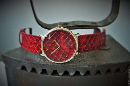 Часы ручной работы. Ярмарка Мастеров - ручная работа. Купить Часы. Handmade. Часы, часики, змеиная кожа, дизайнерские часы